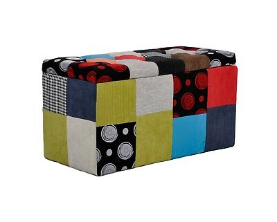 Pouf CONTENITORE Baule PATCHWORK design made in italy - Promo online