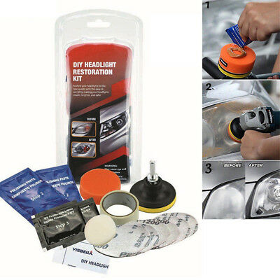 Car Headlight Lens Restoration System Professional Restorer Polishing Kit MN