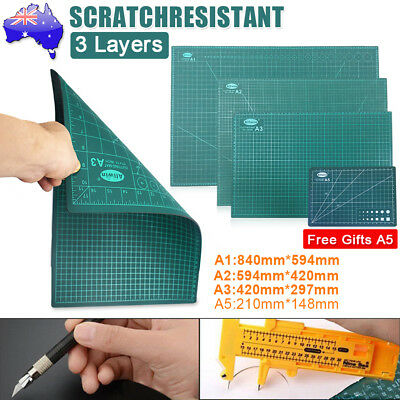 A1/A2/A3 Thick 3-Ply Self Healing Cutting Mat Print Board 2 Side Free Gift A5 OZ