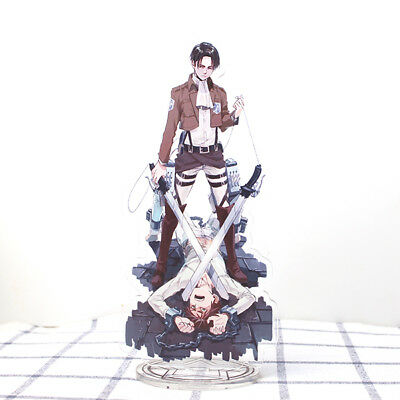 Attack on Titan Shingeki no Kyojin Levi Ackerman Eren Acrylic Stand Figure