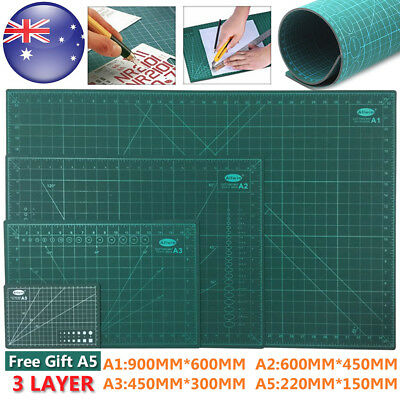A1 A2 A3 Thick 3-Ply Self Healing Cutting Mat 2 Side Print Office + Free Gift A5