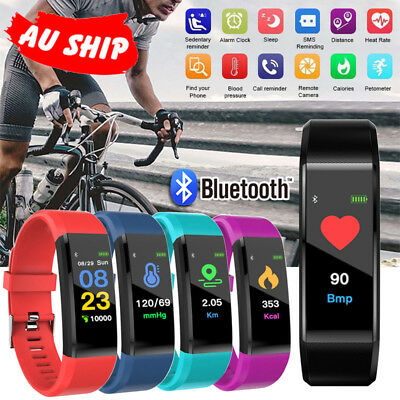 Smart Watch Waterproof Pedometer Fitness Activity Tracker Heart Rate Monitor ios