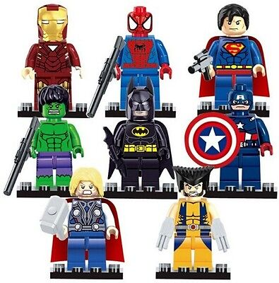 8 Pcs Marvel Avengers Super Hero Comic Mini Figures DC Minifigure Gift