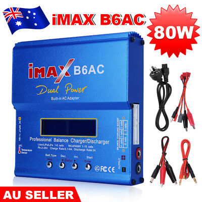iMax B6AC 80W RC Lipo NiMh Digital Battery Balance Charger Discharger Adapter AU