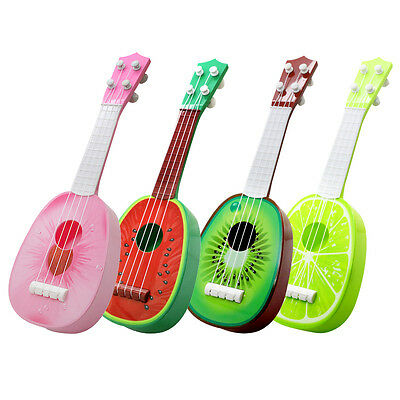 Funny Kids Guitar Ukulele Fruit Acoustic Musical Play Instrument Music Toy Gift