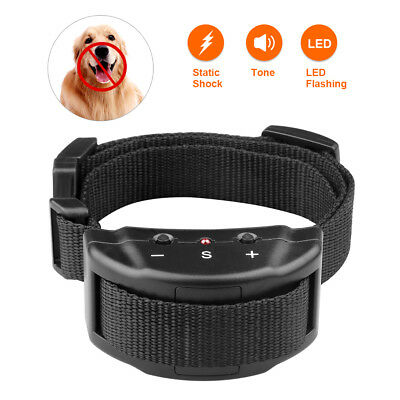 Anti Bark Pet Dog Training Collar Sound & Shock Stop Barking Automatic Pet Auto