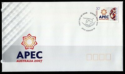 2007 Australia APEC Australia 2007 50c S/A Stamp First Day Cover, Mint Condition