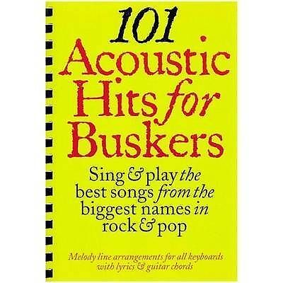 101 Acoustic Hits For Buskers Guitar Keyboard Music Book Chord