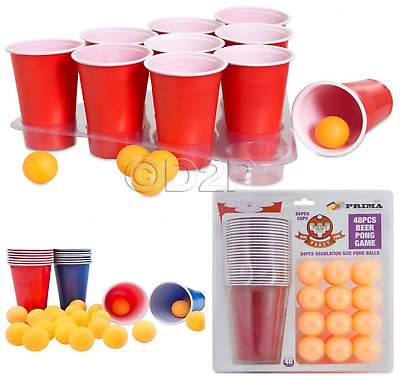 36pc Beer Pong Drinking Game Alcohol American Cup Beer pong Frat Party Ping