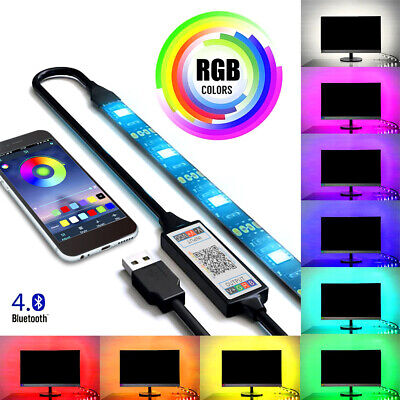 USB Powered 1M 2M 3M 4M 5M RGB LED Strip Light Wireless Bluetooth Control Light