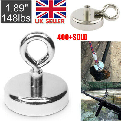 42mm Recovery Magnet Strong Sea Fishing Treasure Hunting Metal Detector 68kg