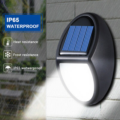 10 LED 600LM Security Wall Light Solar Power Outdoor Patio Lamp Waterproof IP65