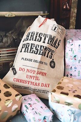 High Quality Extra Large Hessian Christmas Present Santa Sack Gift Toy Kids