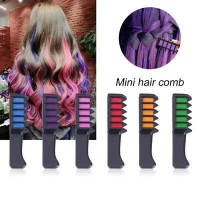 Cosplay Party Hairs Dyeing Temporary Hair Chalk Color Comb Dye Kits Disposable R