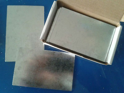 10pc Iron Fe Cathode Sheet Plate For Hull Cell 0.2mm x 100mm x 65mm #E0Z-D GY
