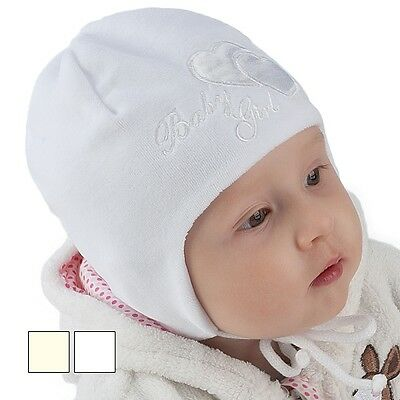 Cotton Soft Brand New Baby/girl/newborn Tied Hat For Autumn/spring Christening