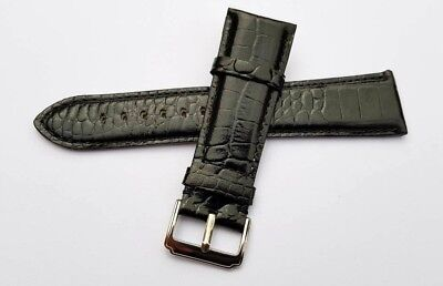 Genuine Leather Watch Strap Band for EMPORIO ARMANI Watches 26 mm. BLACK.(AR-18)