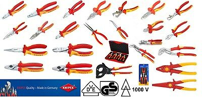 KNIPEX VDE Electricians Pliers & Cutters Wrench Strippers Multi Options 1000v