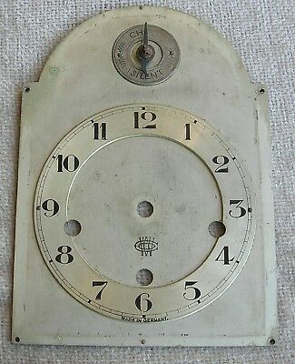 Silvered Brass Arched Mantel Clock Dial Plate 5 x 7  inches