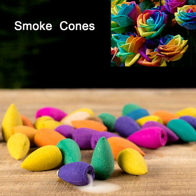 50pz Smoke Cones Bullet Buddismo Back Flow Tower Bruciatore incenso Holder Cono