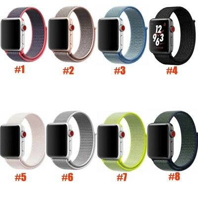 Armband Strap für Apple Watch 38/42mm Series 1/2/3 Nylon Sport Schlaufe mit Hake