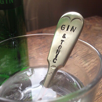 Gin & Tonic - Handmade Vintage Silver Plated Spoon Handle Drink Cocktail Stirrer