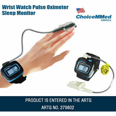 Choicemmed Bluetooth Wrist Watch Pulse Oximeter Sleep Monitor Blood Oxygen Meter