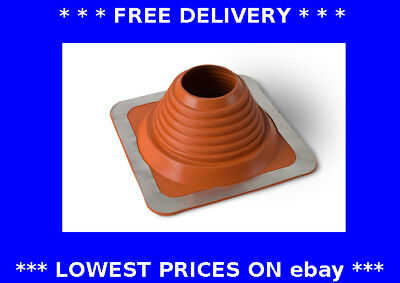102-178mm red roof flashing water rain chimney pipe weather seal