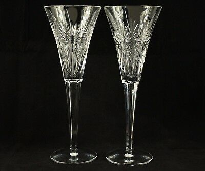 Pair of Waterford Crystal Millennium Health Champagne Flutes