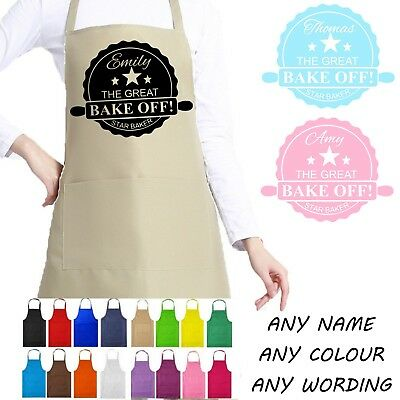 The Great British Bake Off Style Apron GBBO Personalised Any Name Star Baker