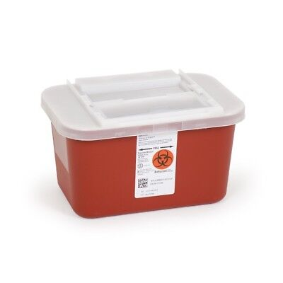 4 PACK!! Sharps Container 1 Gallon Multipurpose Biohazard Disposal Red FREE S&H