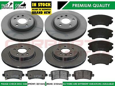 Vauxhall Insignia 2.0 CDTi Front Rear Brake Pads Discs Set 337mm 292mm 190 NEW