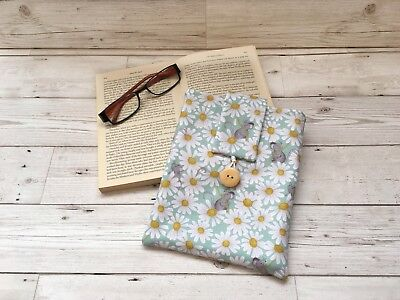 Handmade Book Sleeve, Fabric Book Cover, Book Lover Gift, Holiday Gift, Book Bag