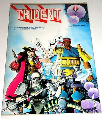 Trident #1  August 1989 - With An Early Neil Gaiman Story For Sandman Fans