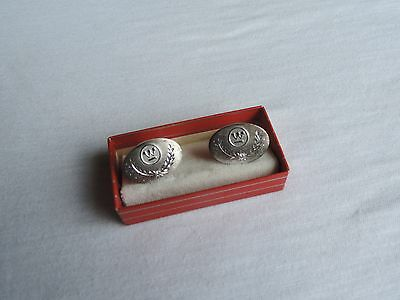 Vtg Sterling Silver Diamond CUFF LINKS Westinghouse Employee Service Award ab676