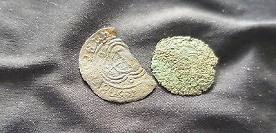 Two 17th Century unresearched tokens cond. as pictured found in England. L117k