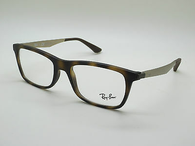 37cc8ff367 ... uk new authentic ray ban rb 7062 5200 matte tortoise 53mm rx eyeglasses  b0f21 608ae