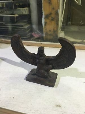 Rare Ancient Antique Egyptian Black Shape STATUE period (650-900 BC) 👌