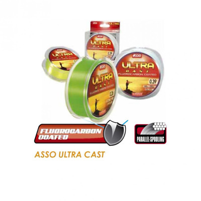 Asso Ultra Cast Fluorocarbon Coated Sea Fishing Line 4oz Spool - All Colours