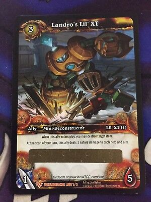 WoW TCG Loot Card Landro's Lil' XT Worldbreaker Unscratched