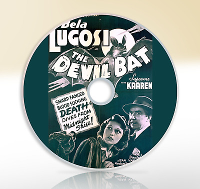 The Devil Bat (1940) DVD Classic Horror Film / Movie Bela Lugosi Suzanne Kaaren