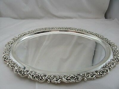 Sterling Silver Tray Made in Italy Oval Brand New Stunning