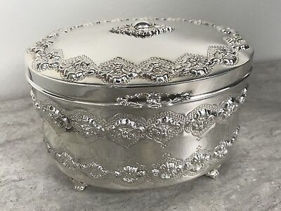 Sterling Silver 925 Esrog Box- Preowned but Never Used. Magnificent!