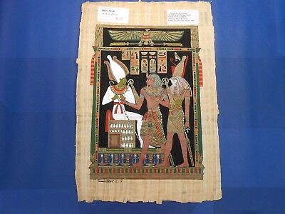Egyptian Papyrus Paper Pharonic Art Royal Temples Tombs, Artist signed OCT17018