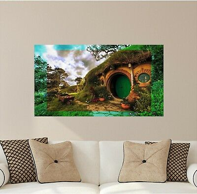 The Shire Hobbit House Wall Mural Decal Lord of the Rings Wall Art Hobbiton