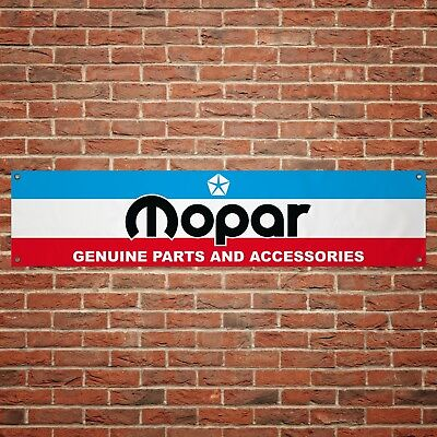 Mopar Banner Garage Workshop PVC Sign Trackside Car Display Dodge Chrysler Parts