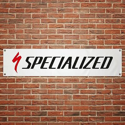 Specialized Bicycles Banner Garage Workshop PVC Sign Trackside Bike Display