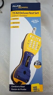 Fluke Networks Ts42 Deluxe Butt Set, New In Box ! With Piercing Pin Cord Cord