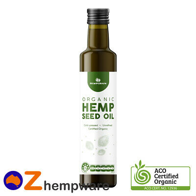 Hemp Seed Oil Certified Organic Cold Pressed Unrefined Australian Manufacturer