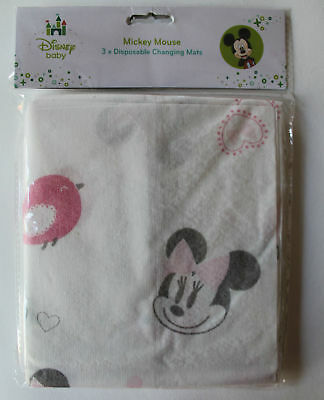 Pack of 3 MINNIE MOUSE Baby Girl Travel Changing Mats Folding Waterproof Soft
